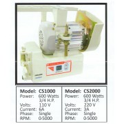 Consew CS1000, Servo Motors
