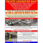 Gaffney, SC Liquidation Sales Flyer