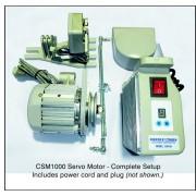 Consew CSM1000, Servo Motors